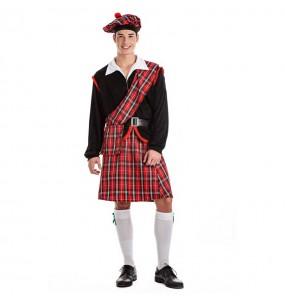 Disfraz de Escocés rojo para hombre