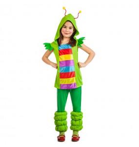 Disfraz de Gusanita multicolor para niña