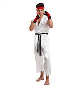 Disfraz de Luchador Karate Ryu para hombre