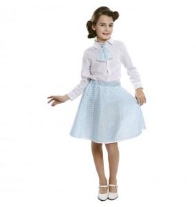 Disfraz de Pin Up Azul para niña