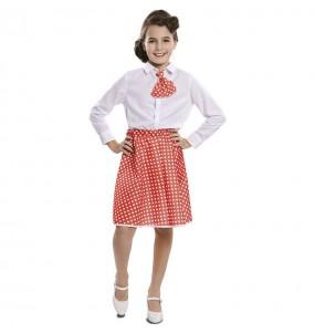 Disfraz de Pin Up Rojo para niña