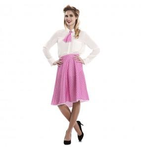 Disfraz de Pin Up Rosa para mujer