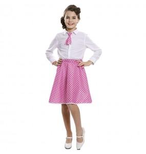 Disfraz de Pin Up Rosa para niña