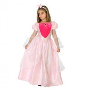 Disfraz Princesa Rosa Deluxe para niña