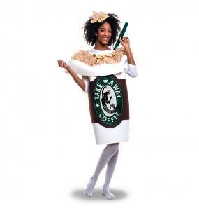 Disfraz de Taza Café Starbucks adulto