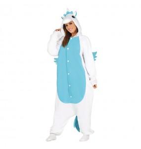 Disfraz de Unicornio Azul para mujer