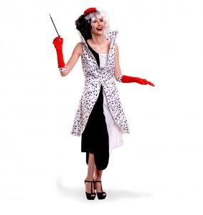 Disfraz de Villana Cruella de Vil para mujer