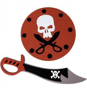 Espada y Escudo Pirata de goma eva para niños