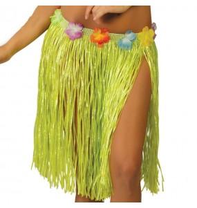 Falda Hawaiana corta verde