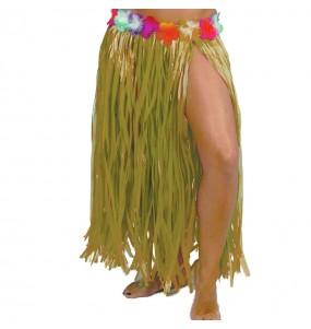 Falda Hawaiana larga amarilla