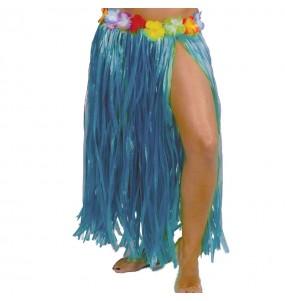 Falda Hawaiana larga azul