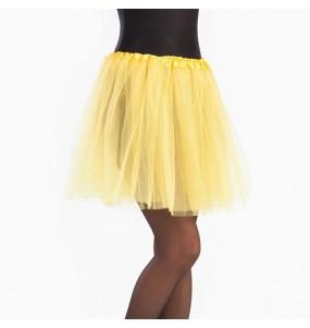 Falda tutú amarillo mujer