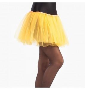 Falda tutú amarillo niña