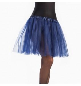 Falda tutú azul oscuro mujer