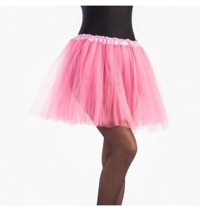 Falda tutú rosa mujer
