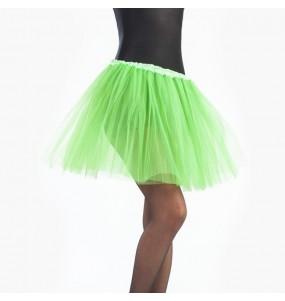 Falda tutú verde lima mujer