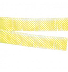 Fleco amarillo a lunares