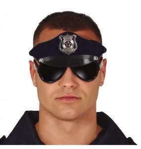 Gafas con gorra de Policía