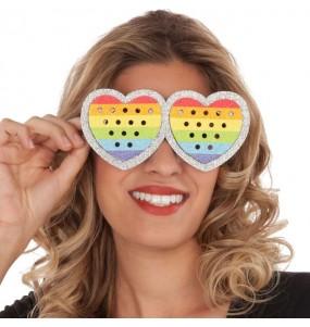 Gafas Corazón Rainbow