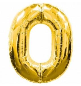 Globo número 0 dorado gigante
