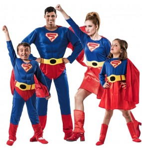 Grupo disfraces Familia Superman