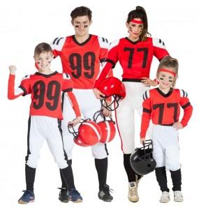 Grupo de Jugadores Futbol Americano Rojos