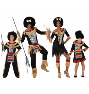 Grupo Disfraces de Zulús baratos