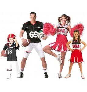 Grupo Disfraces de Jugadores de Rugby Animadoras