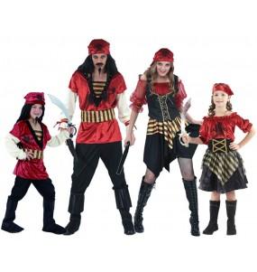 Grupo Disfraces Piratas Rojos