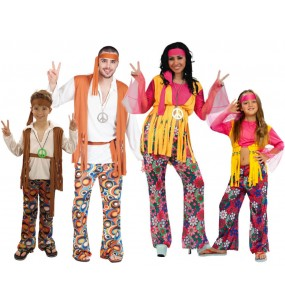 Grupo Disfraces de Hippies flower power baratos