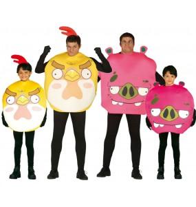 Grupo de disfraces de Angry Birds