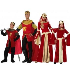 Grupo de Disfraces de Medievales Rojos