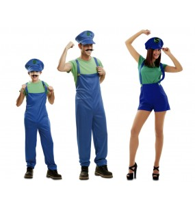 Grupo Disfraces de Super Luigis