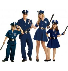 Grupo Disfraces de Policías Azules