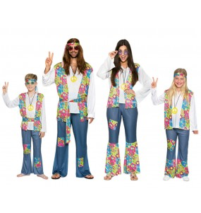 Grupo Disfraces de Hippies