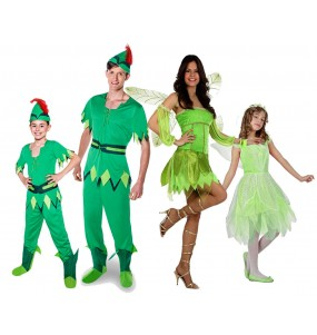 grupo disfraces familia peter pan
