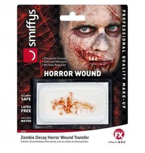 Herida Descomposición zombie Halloween