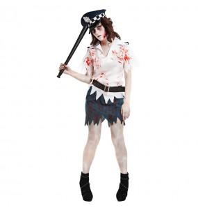 Disfraz de Policía Mujer Zombie