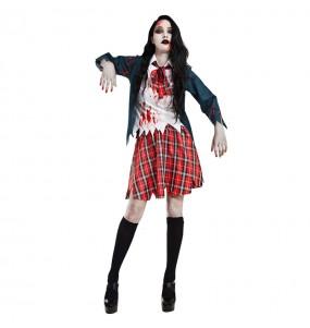 Disfraz de Colegiala Estudiante Zombie