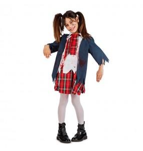 Disfraz de Colegiala Niña Zombie