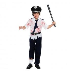 Disfraz de Policía Niño Zombie