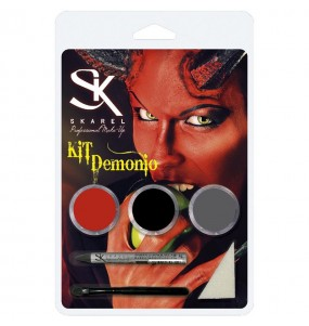 Kit Maquillaje Demonio Halloween