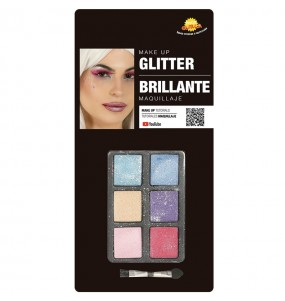 Kit Maquillaje Sombras Glittter