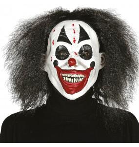 Máscara de Payaso Asesino con pelo