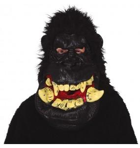 Máscara Gigante Gorila con pelo