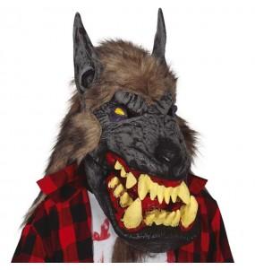 Máscara Gigante Lobo con pelo
