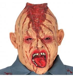 Máscara Zombie Cabeza Partida látex