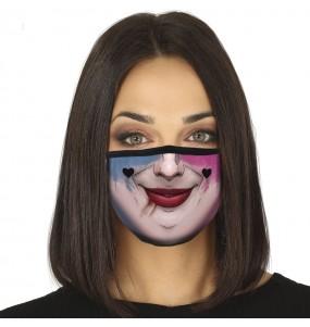 Mascarilla de Harley Quinn para adulto