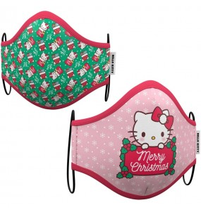Mascarilla de Hello Kitty Navidad para adulto