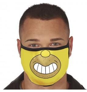 Mascarilla de Homer Simpson para adulto